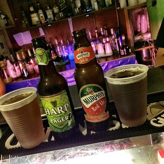 Harp Lager y Murphy's Red Ale
