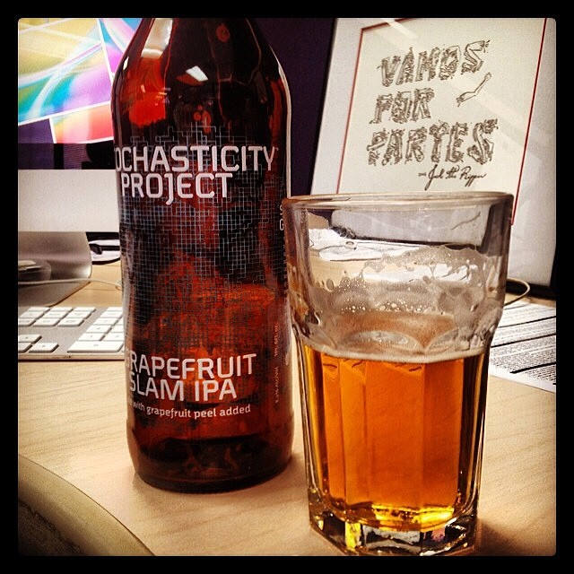 Stochasticity Project: Grapefruit Slam IPA de Stone Brewing vía @cesargonz en Instagram