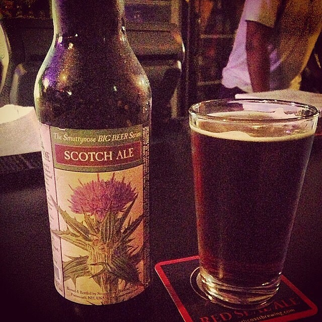 Smuttynose Scotch Ale vía @dehumanizer en Instagram