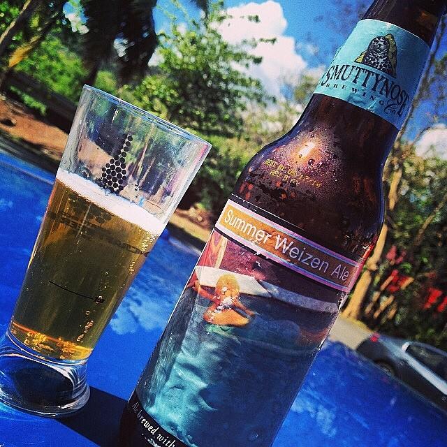 Smuttynose Summer Weizen Ale vía @evalissebibi en Instagram