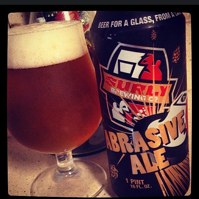 Surly Brewing Abrasive Ale Double IPA vía @thecraftbeergal en Instagram