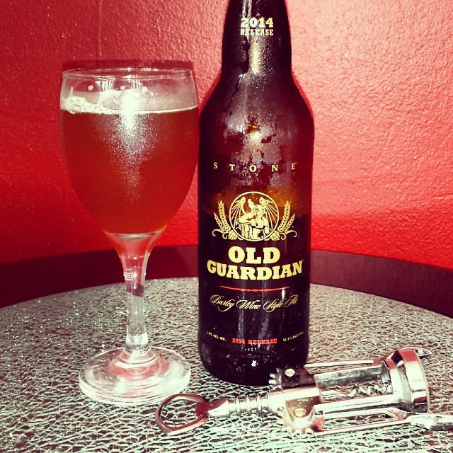 Stone Old Guardian Barley Wine vía @makiromusic en Instagram