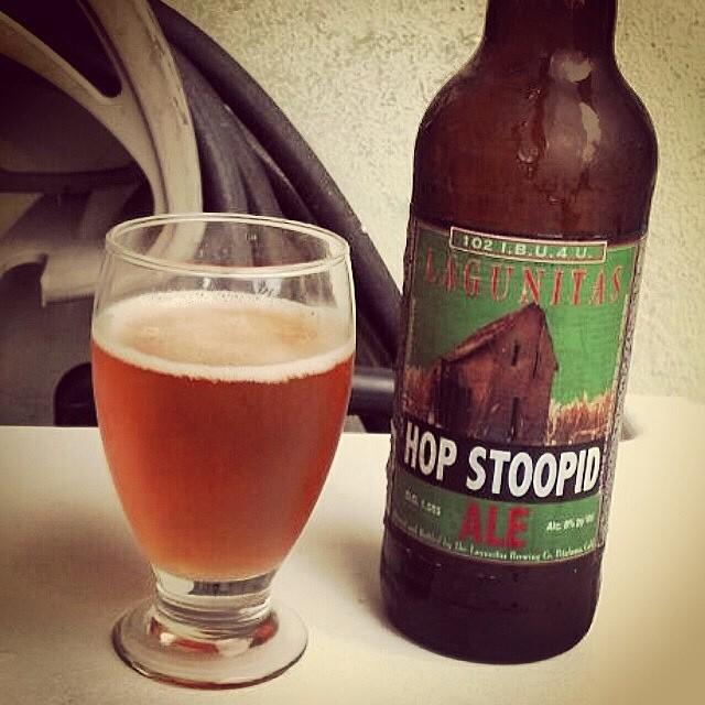 Lagunitas Hop Stoopid Ale vía @dehumanizer en Instagram