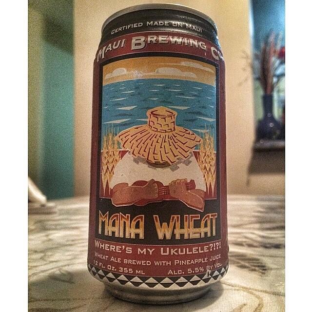 Maui Brewing Mana Wheat vía @vsoto1990 en Instagram