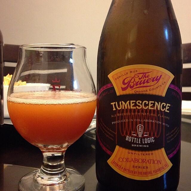 The Bruery Tumescense Saison vía @jsantiagomurphy en Instagram