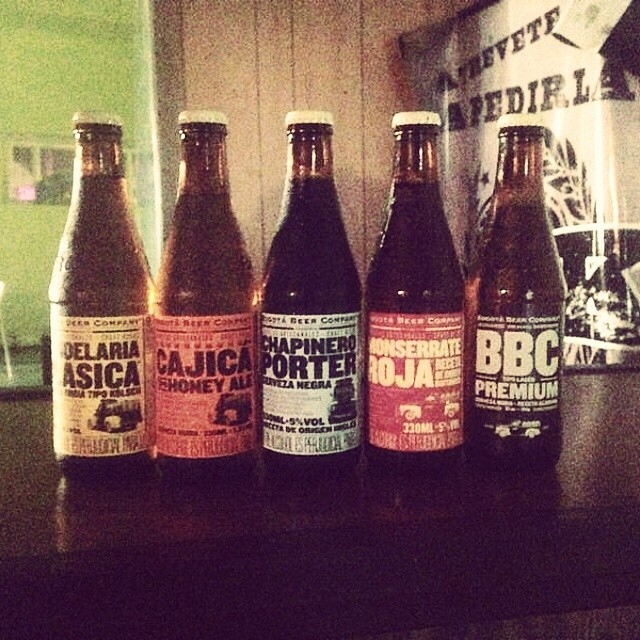Cervezas de Bogotá Beer Company vía @monoespanita en Instagram