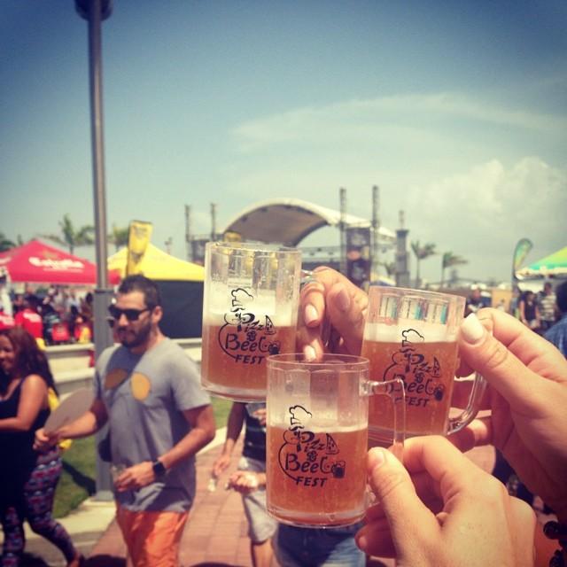 Desde el Pizza & Beer Fest @wilmagisselle vía Instagram