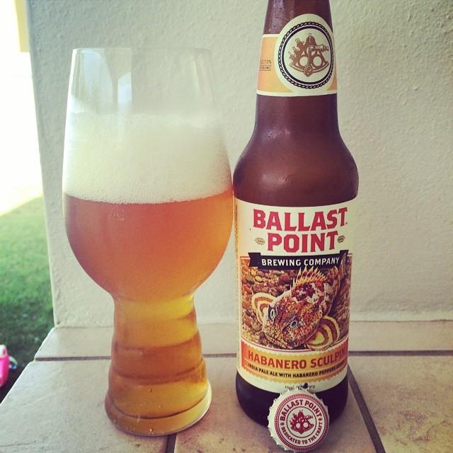Ballat Point Habanero Sculpin IPA vía @ramonesbrew en Instagram