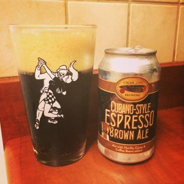 Cigar City Cubano-Style Espresso Ale Brown Ale vía @ramonesbrew en Instagram