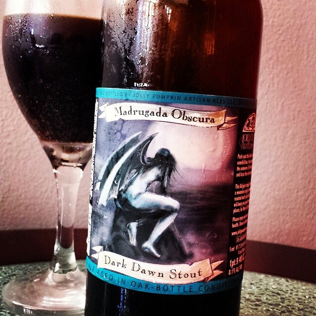 Jolly Pumpkin Madrugada Obscura Imperial Stout vía @makiromusic en Instagram
