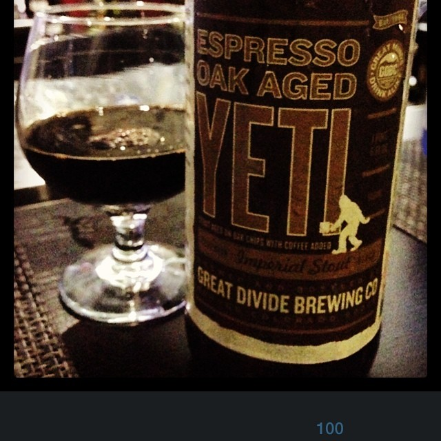Great Divide Brewing Espresso Oak Aged Yeti vía @thecraftbeergal en Instagram