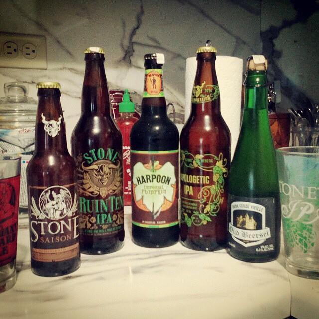 Selección de cervezas vía @juanybt en Instagram