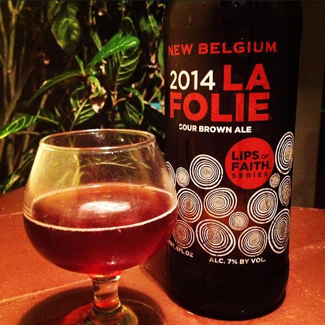 New Blegium La Folie Sour Brown Ale vía @thecraftbeergal en Instagram