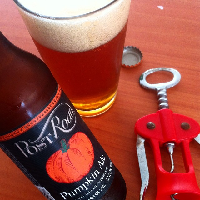Brooklyn Post Road Pumpkin Ale vía @apaman8 en Instagram