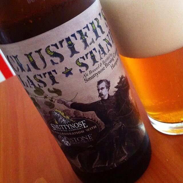 Cluster's Last Stan de Smuttynose y Stone vía @Apaman8 en Instagram