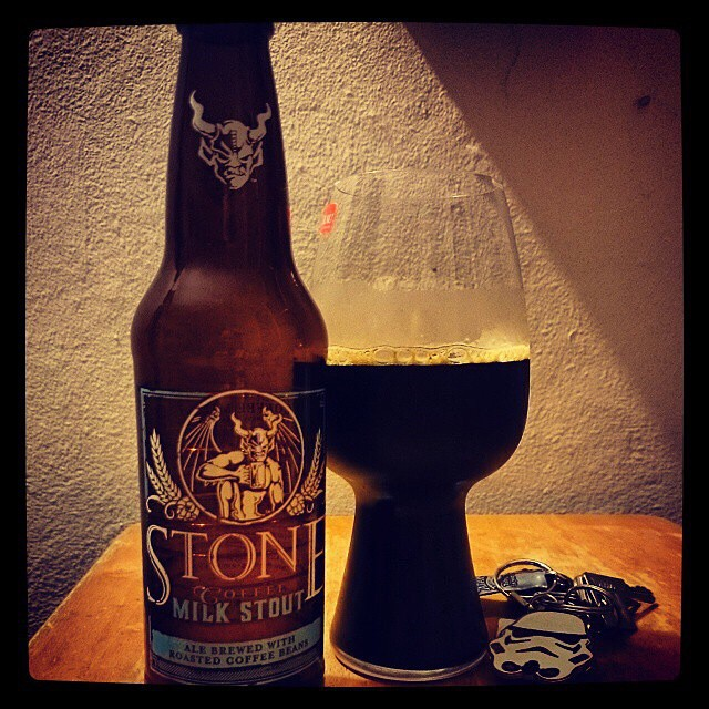 Stone Coffee Milk Stout vía @adejesus80 en Instagram