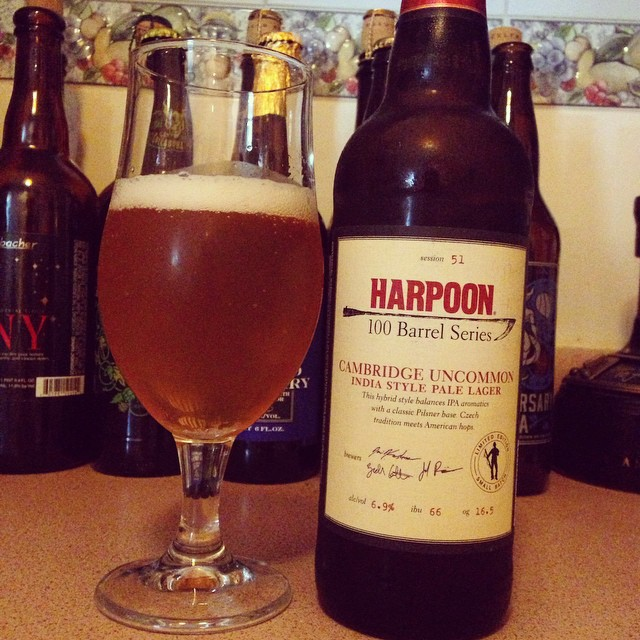 Harpoon 100 Barrel Series Cambridge Uncommon IPL vía @dehumanizer en Instagram