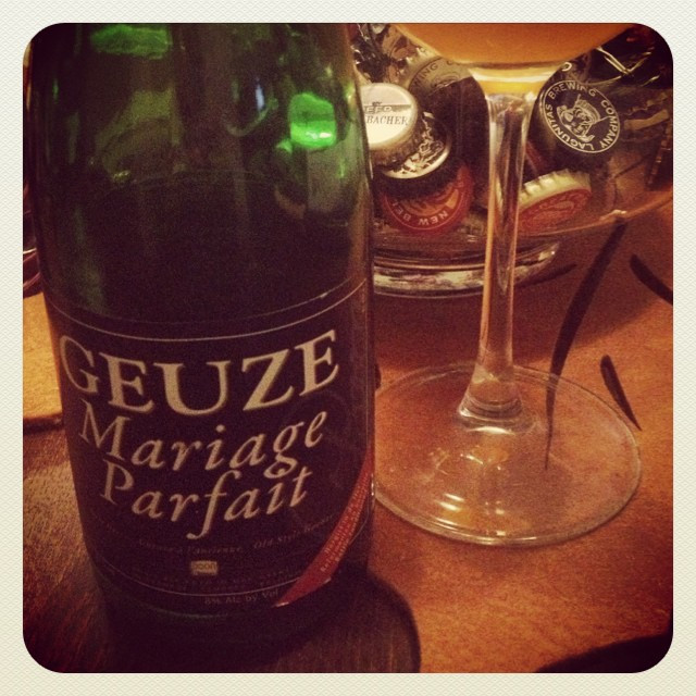 Geuze Mariage Parfait de Boon Brewery vía @thecraftbeergal en Instagram