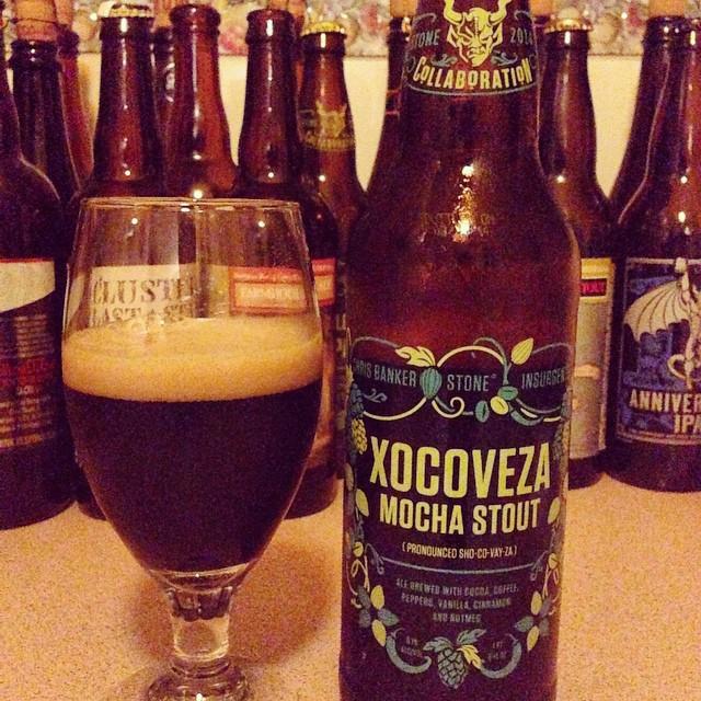 Stone Xocoveza Mocha Stout vía @dehumanizer en Instagram