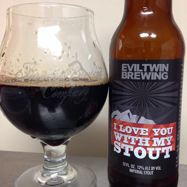 Evil Twin Brewing I Love You with My Stout vía @j_sanmurphy en Instagram