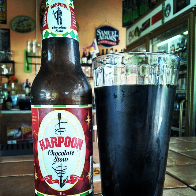 Harpoon Chocolate Stout vía @cracker8110 en Instagram