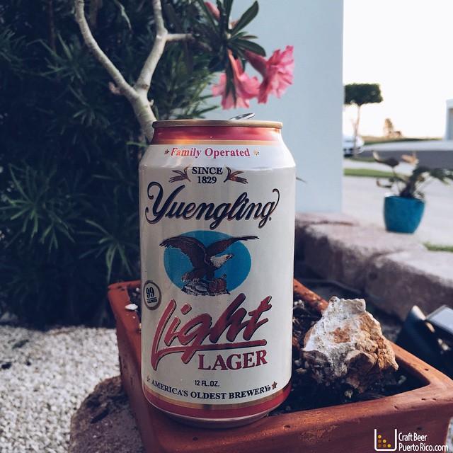 Yuengling Light Lager vía @manuhola en Instagram