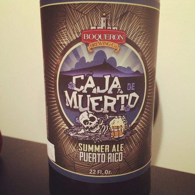 Caja de Muerto Summer Ale de Boquerón Brewing vía @msdedo en Instagram