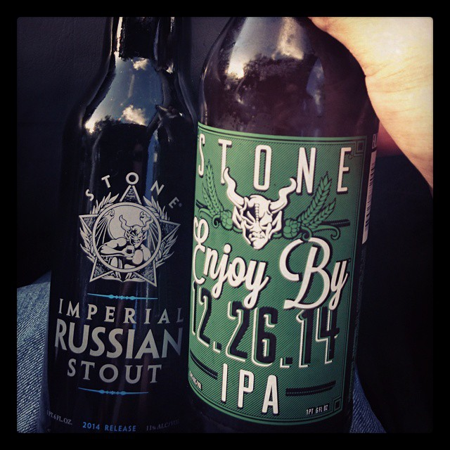 Stone Imperial Russian Stout y Enjoy By 12.26.14 vía @adejesus80 en Instagram