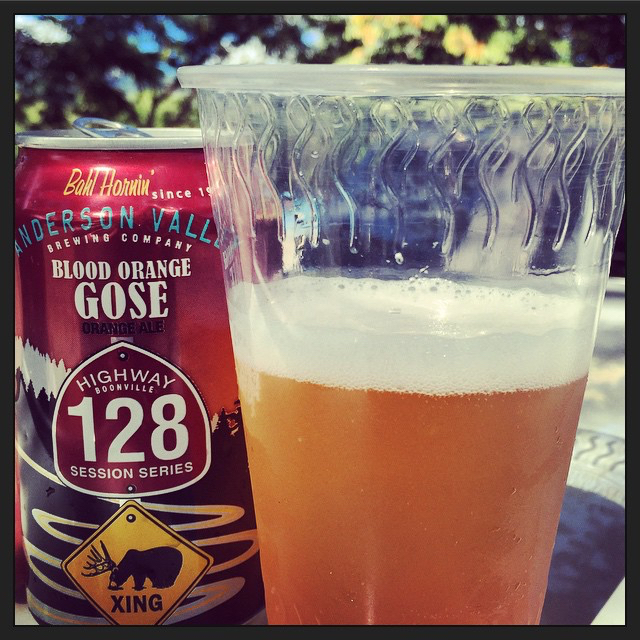 Anderson Valley Blood Orange Gose vía @thecraftbeergal en Instagram