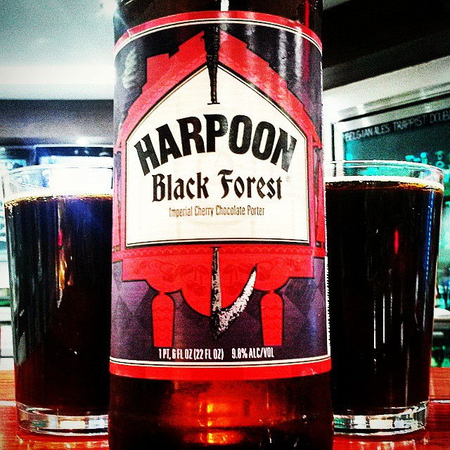 Harpoon Black Forest Imperial Cherry Chocolate Porter vía @valdorm en Instagram
