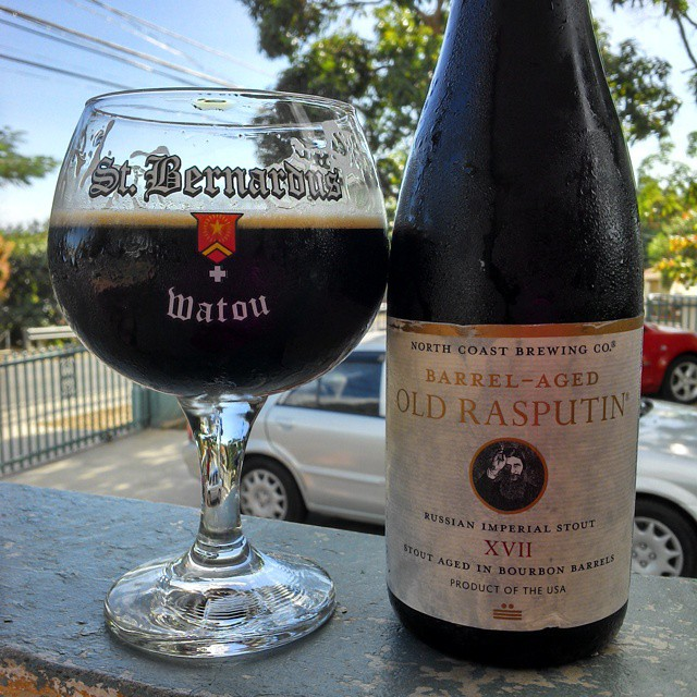 Old Rasputin Aged in Bourbon Barrel vía @cracker8110 en Instagram