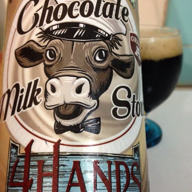 4 Hands Chocolate Milk Stout vía @j_sanmurphy en Instagram