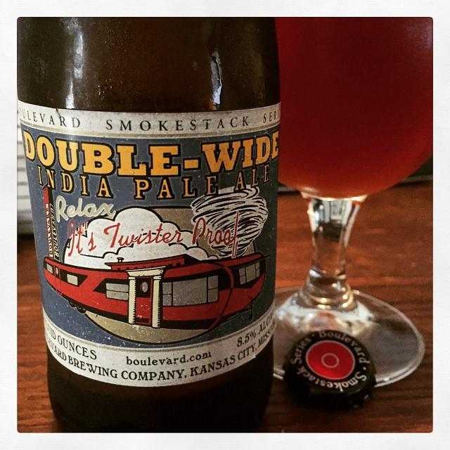 Boulevard Double Wide IPA vía @thecraftbeergal en Instagram