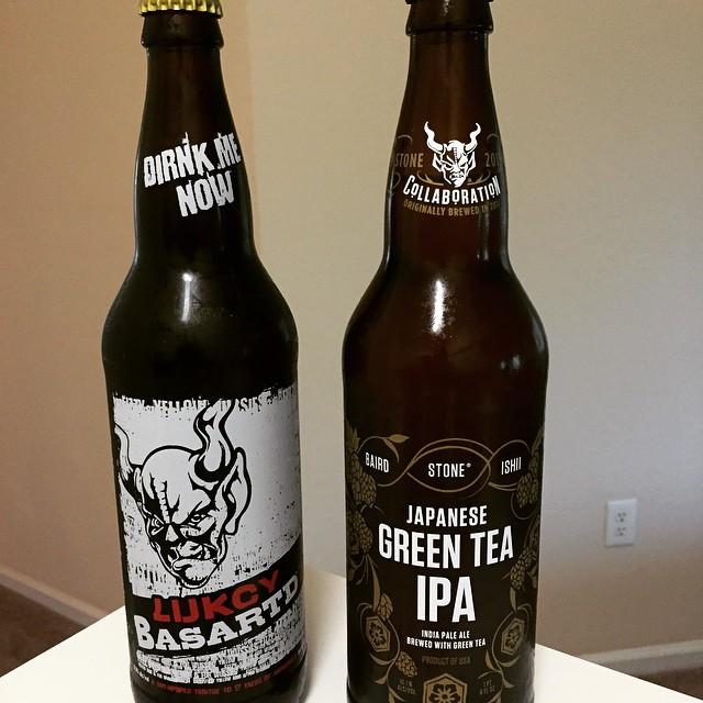 Stone Lukcsy Basartd y Green Tea Japanese IPA vía @mauricioh77 en Instagram