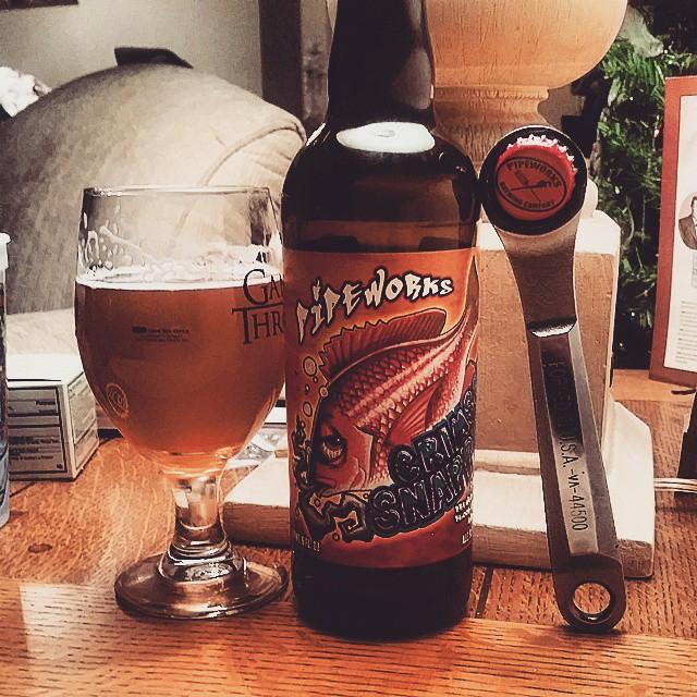 Pipeworks Crimson Snapper Imperial IPA vía @craftbeerpro en Instagram