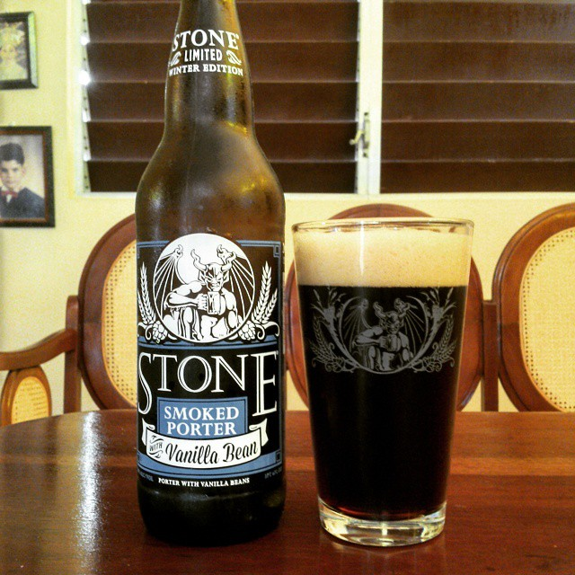 Stone Smoked Porter with Vanilla Beans vía @cracker8110 en Instagram