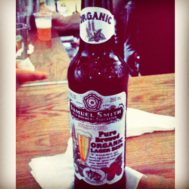 Samuel Smith Organic Lager vía @tereala en Instagram