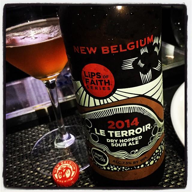 New Belgium 2014 Le Terroir Dry Hopped Sour Ale vía @thecraftbeergal en Instagram