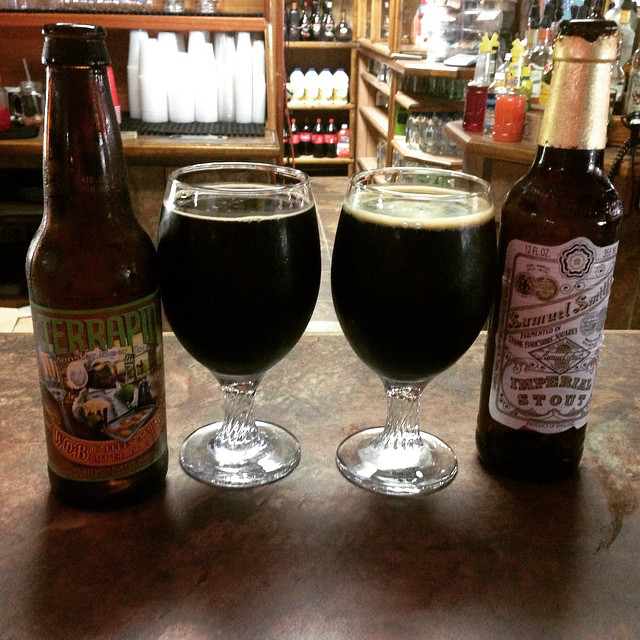 Terrapin Wake and Bake y Samuel Smith Imperial Stout vía @lmv30 en Instagram