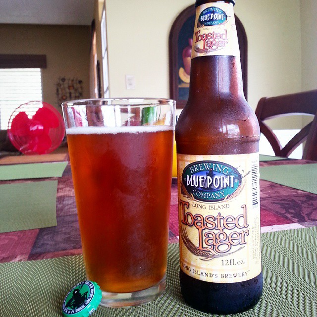 Blue Point Toasted Lager vía @emekatreberesei en Instagram