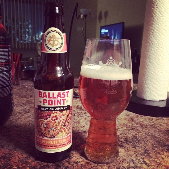 Ballast Point Grapefruit Sculpin vía @illarchie en Instagram