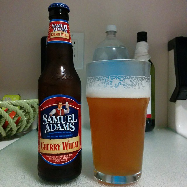 Samuel Adams Cherry Wheat vía @ramonjdejesus en Instagram