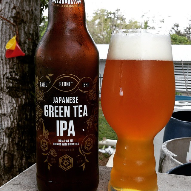 Stone Japanese Green tea IPA vía @cracker8110 en Instagram