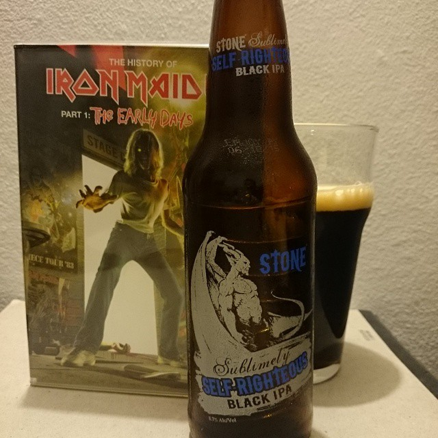 Stone Self-Righteous Black IPA vía @adejesus80 en Instagram