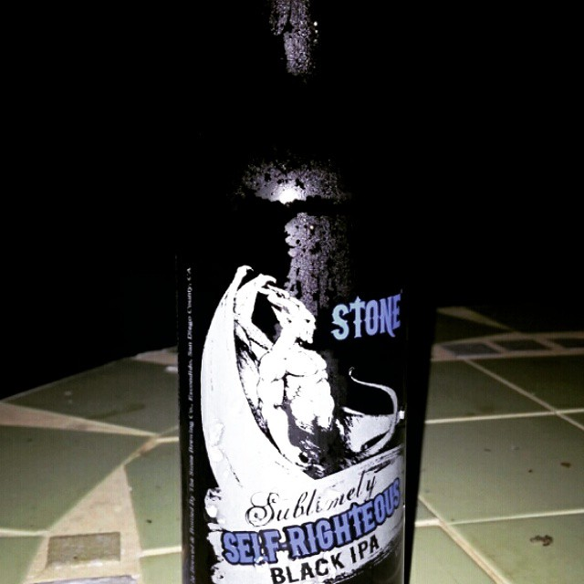 Stone Sublimely Self-righteous Black IPA vía @cracker8110 en Instagram