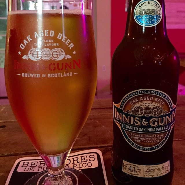 Innis and Gunn Toasted Oak IPA vía @bros_brewhouse en Instagram