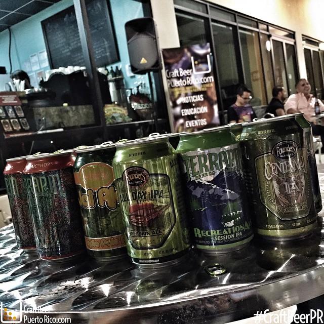 Algunas de las cervezas tomadas en Antesala, Coamo