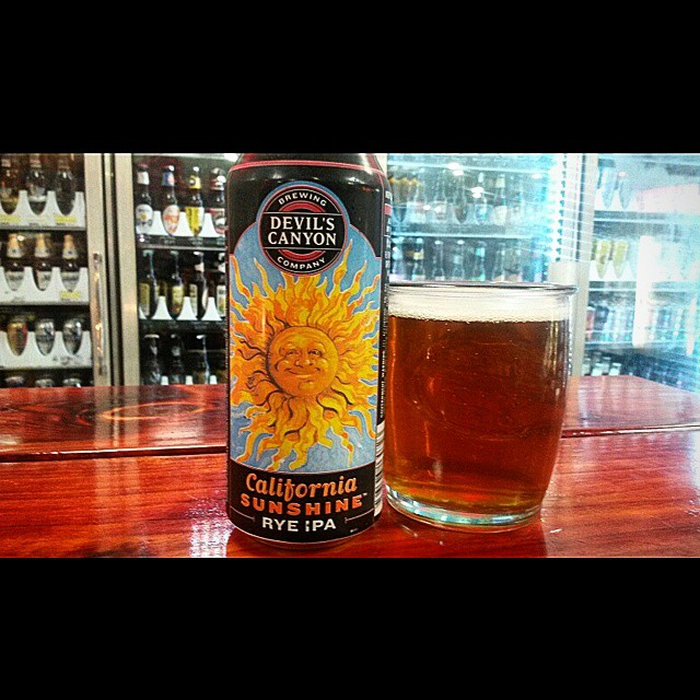 Devil's Canyon California Sunshine Rye IPA vía @valdorm en Instagram