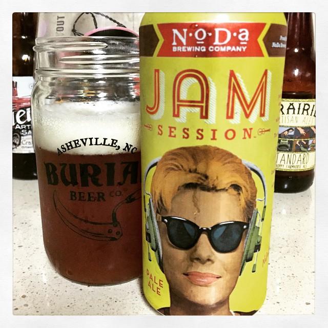 NoDa Jam Session Pale Ale vía @thecraftbeergal en Instagram