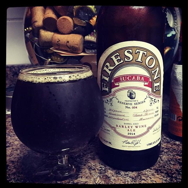 Firestone Sucaba English Barleywine vía @thecraftbeergal